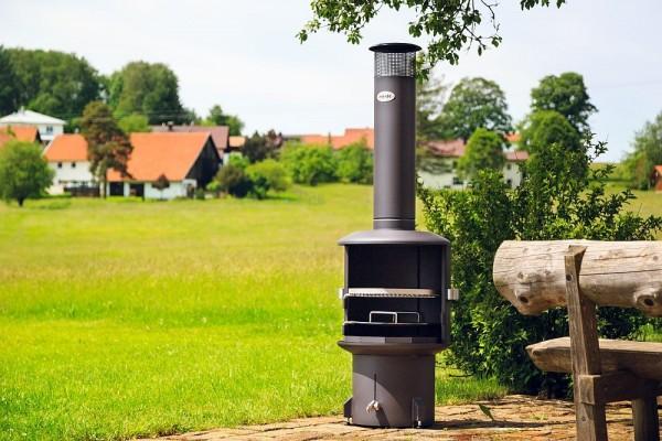 Gartenkamin /-grill Burner schwarz #190