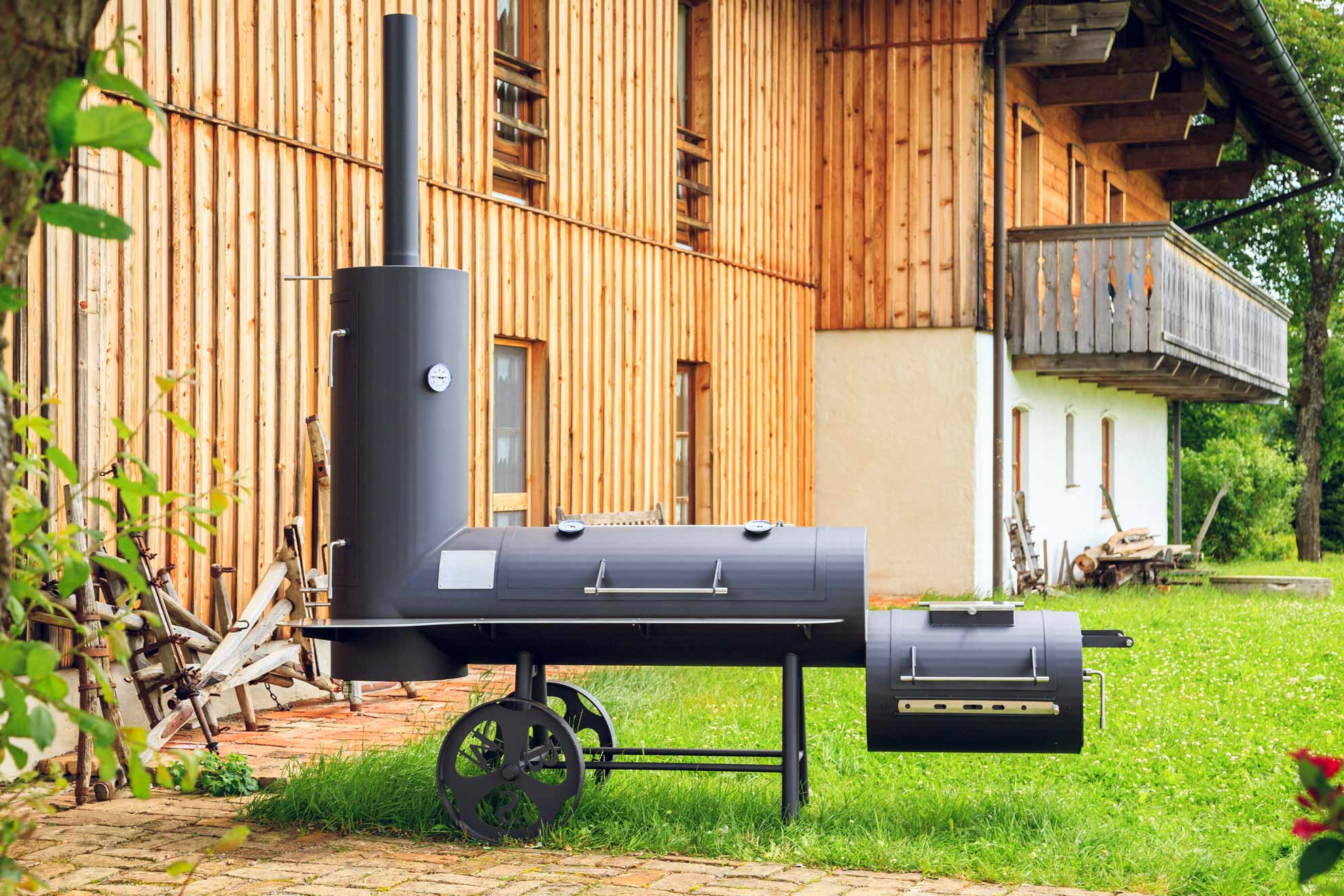 smoker grillen char broil smoker charcoal grill offset portable bbq outdoor large home barbecue. Black Bedroom Furniture Sets. Home Design Ideas