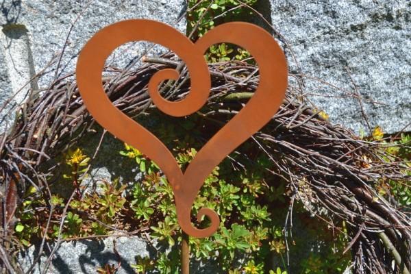 Gartenstab Herz #335