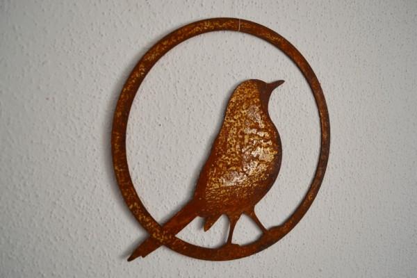 Rostdeko Vogel im Ring, Amsel, zum Haeng #525