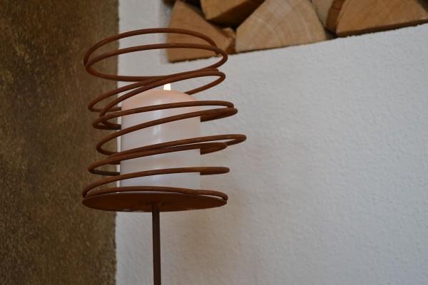 Windlicht Curly zum Stellen Rost Edelrost Kerze De #150