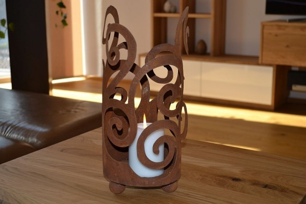 Windlicht Ornament Dekoartikel Aus Edelrost Haus