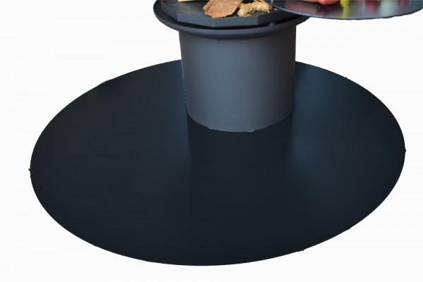 Bodenplatte schwarz, dm=1,25m #44