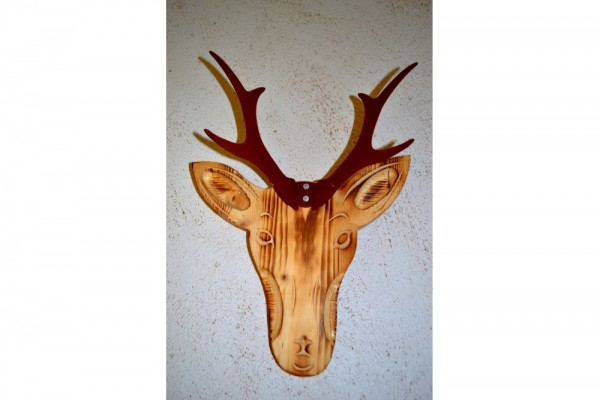 Deko Rehbock Holz #396