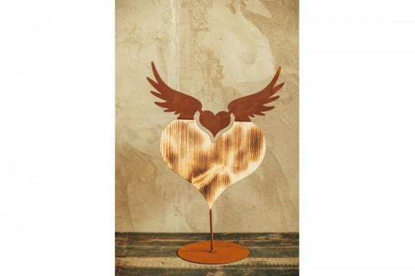 Herz mit Holz auf Platte #313